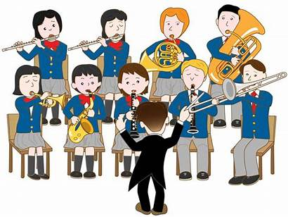 Clipart Teacher Band Conservatory Cartoon Class Wind