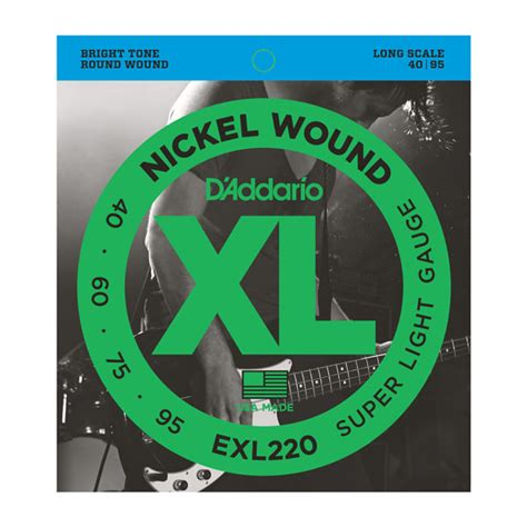 d addario strings xl nickel wound exl220 nickel
