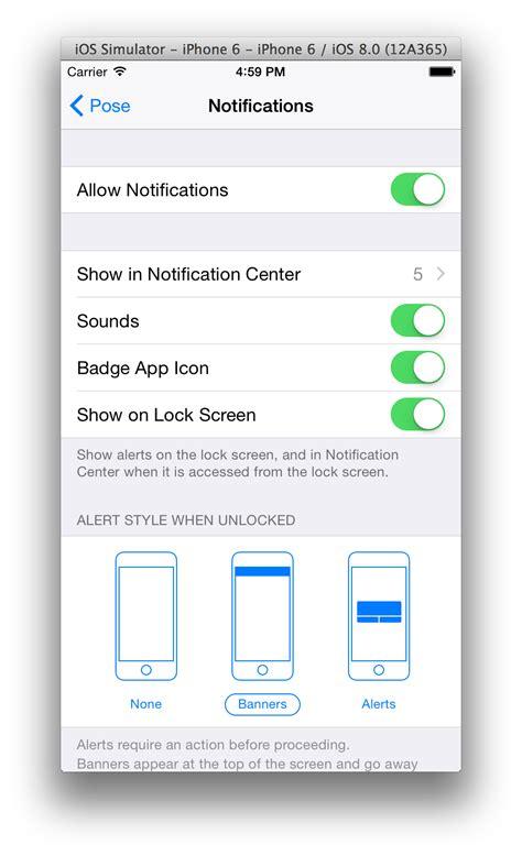 iphone notifications iphone push notifications in mavericks ios simulator