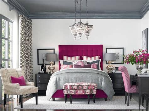 Gray & Magenta  Bedrooms  Bedroom Decor, Fuschia Bedroom
