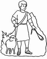 Coloring Boy Shepherd David Bible sketch template