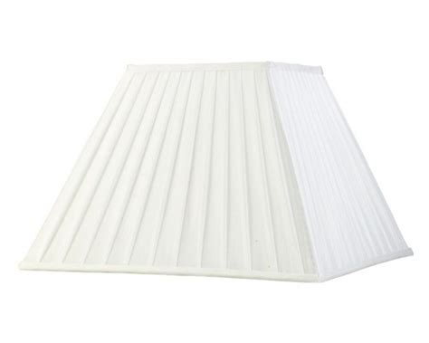 white square l shade white 200mm square pleated fabric shade only ils20231
