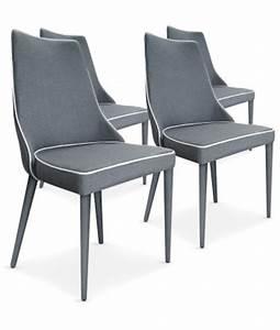 Lot 4 Chaises Scandinaves : chaise scandinave design tissu gris pas cher scandinave deco ~ Teatrodelosmanantiales.com Idées de Décoration