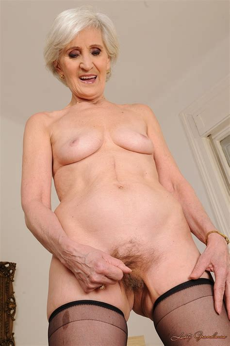 Skinny Granny Viviana Gets Her Hairy Pussy Covered In