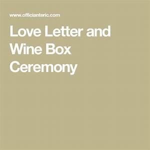 Love letter and wine box ceremony discover more ideas for Love letter wedding ceremony