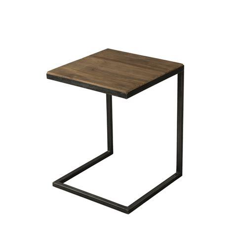 bout de canapé en bois bout de canapé bois et métal dpi import