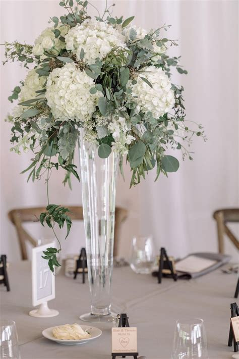 pilsner vase trumpet vase wedding centerpieces ideas