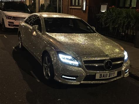 Covered Car by The Mercedes Cls Covered In Swarovski Crystals Is Now For