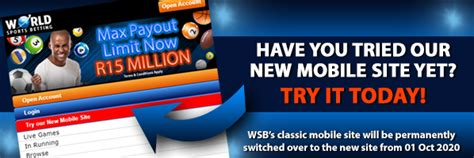 World Sports Betting - SA's Premier Sports Betting Site
