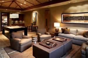 wohnzimmer dekorieren braun ideen für hawaiische dekoration