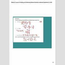 Module 2 Lesson 10 Adding And Subtrating Rational Numbers