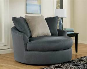 Furniture swivel chairs for living room with gray color for Gray living room chairs