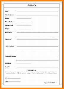 6 biodata format for job pdf emt resume With biodata format