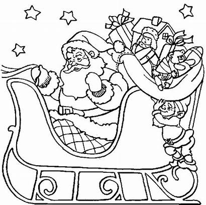 Coloring Night Starry Henry Santa Flying Claus