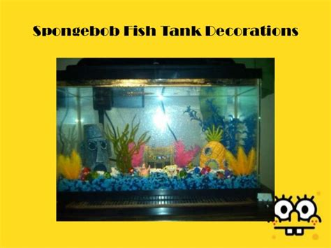 Spongebob Fish Tank Decor Set by Spongebob Fish Tank Decorations
