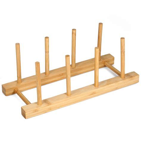 drying rack plate rack multipurpose drainer dish rack bamboo drying rack pot lid holder storage