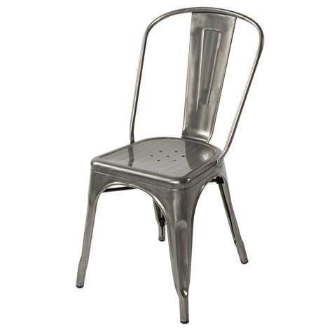 chaise aluminium exterieur tolix style metal industrial loft designer cafe chair in