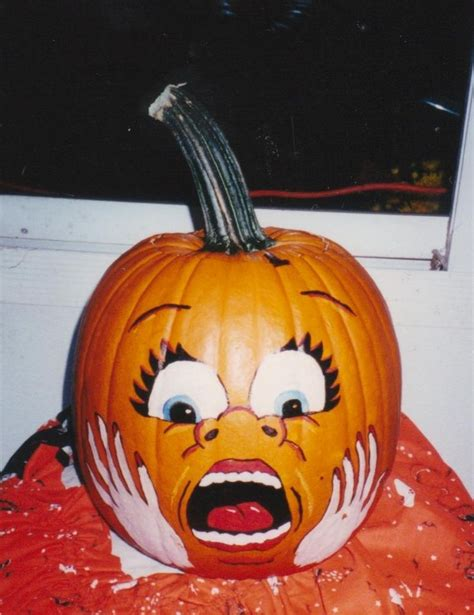 paint a pumpkin pumpkin painted scare face craft ideas pinterest scared face pumpkin painting and face