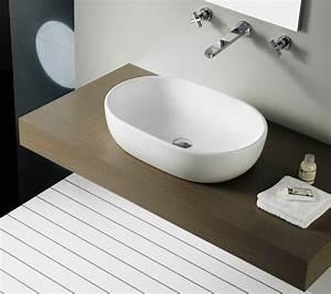 Waschbecken Mit Holzplatte : waschbecken aufsatz m belideen ~ Michelbontemps.com Haus und Dekorationen