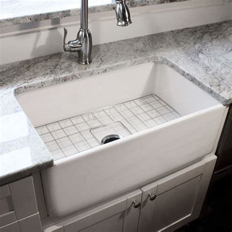 30 inch farmhouse kitchen sink highpoint collection 30 inch single bowl fireclay 7322