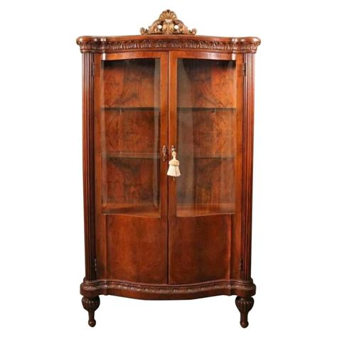 antique china cabinet styles antique french style mahogany serpentine china cabinet