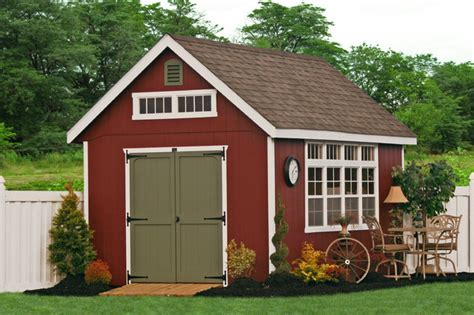 10x16 Premier Garden Shed  Traditional  Garage And Shed
