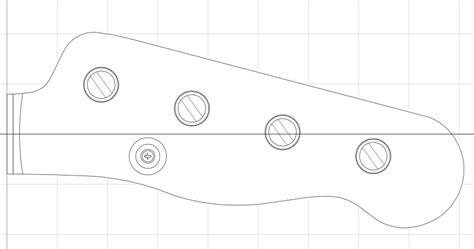 fender bass headstock template scale warmoth j bass build aural sensations