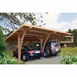 Garage En Bois Leroy Merlin : carport en bois grancey 32 m leroy merlin ~ Melissatoandfro.com Idées de Décoration
