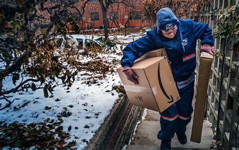 worker postal office packages workers service amazon deliver rural carrier burden letter delivering states united america shouldering delivers collapsing already