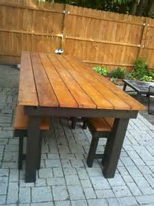 Camo Deck Screws For 2x6 by White Modified Rustic Table And Benches Diy Projects