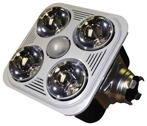 Bathroom Exhaust Fan Light Bulb by Aero Fan A716rw 4 Bulb Bathroom Heater Fan With