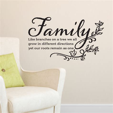 Family Like Branches on a Tree Vinyl Wall Decal We all Grow