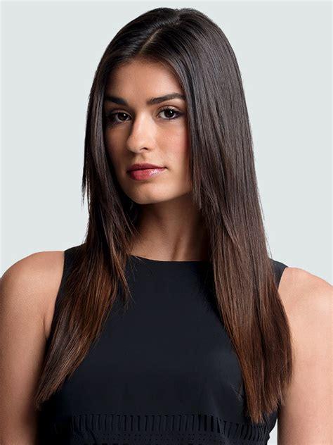 sleek face framing fringe regis salons