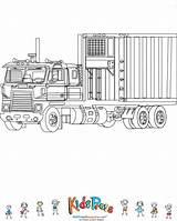 Coloring Truck Refrigerator Kidspressmagazine Train Trucks sketch template