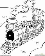 Train Coloring Pages Worksheet Sheets Trains Colouring Printable Education Worksheets Adult Grade Steam Express Transportation Vehicles Drawing Child Inside Lines sketch template