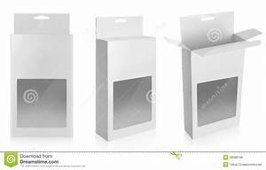 White Product Package Box With Window Stock Image - Image ...
