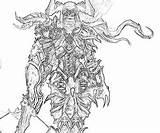 Demon Hunter Printable Coloring Diablo Female Template Yumiko Fujiwara Diablo3 sketch template