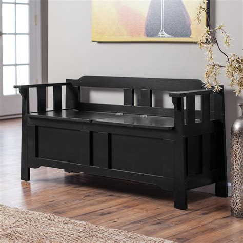 parker storage bench black bedroom benches  hayneedle