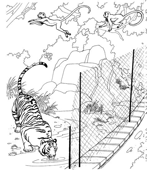 Coloring Zoo Page by Free Printable Zoo Coloring Pages For