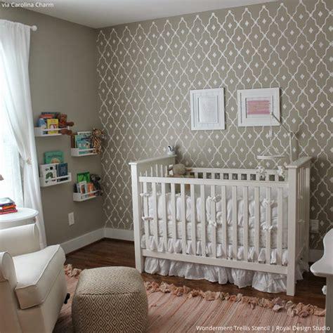 baby room decor accent walls ideas  nursery stencils