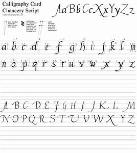 Calligraphy - complete upper and lower case Chancery ...