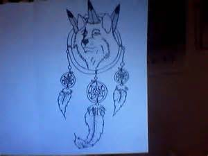 Wolves Dream Catchers Drawings