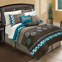teal and brown bedding Cayenne Comforter Set from Bed Bath & Beyond. I really ...