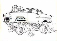 2017 restful drawings goodies artwork With 1955 chevy hot rods