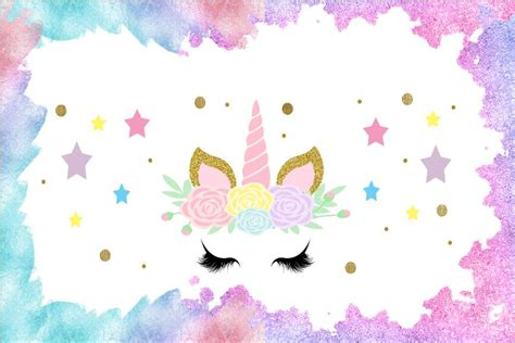 xft floral flowers unicorn horn face mask eyes baby