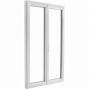 Porte fenetre pvc brico essentiel 2 vantaux ouvrant a la for Porte fenetre monobloc