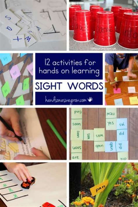 12 on sight word activities on as we grow 552 | sight word activities