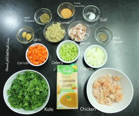 soup ingredients kale quinoa chicken soup home life with mrs b