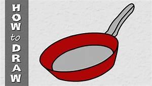 How to draw frying pan - Kids Club World