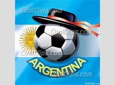 Argentinean Flag with Soccer Ball with Traditional Hat and